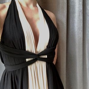 Airy Black Tea Dress